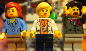 Peer 1: Brilliant! Accept with no changes; Peer 2: Groundbreaking! Accept with no changes; Peer 3: Reject.  Credit: the brilliant @LegoAcademics