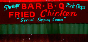 Image credit:  Shrimp, Pork Chops, Bar. B. Q. by Steve Snodgrass, Flickr, CC BY