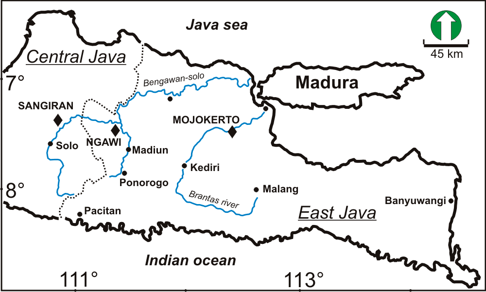 Map of the localities studies