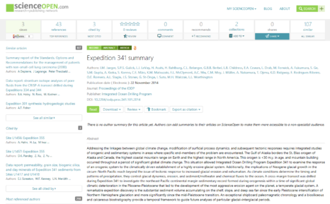 Expedition 341 summary on ScienceOpen