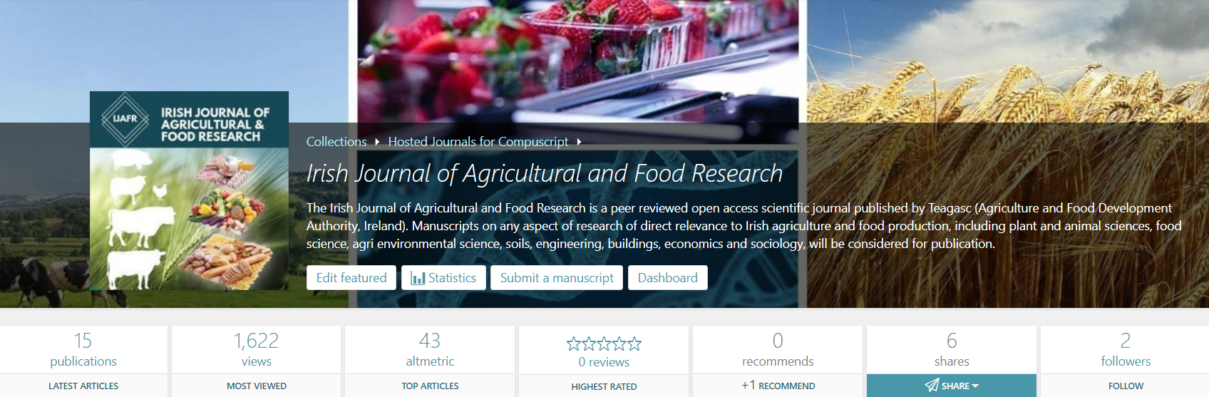The Irish Journal of Agricultural and Food Research launches new interactive publishing environment